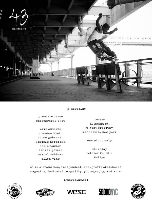 43 launch flyer