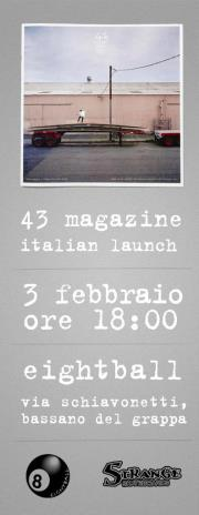 43 magazine italian launch flyer
